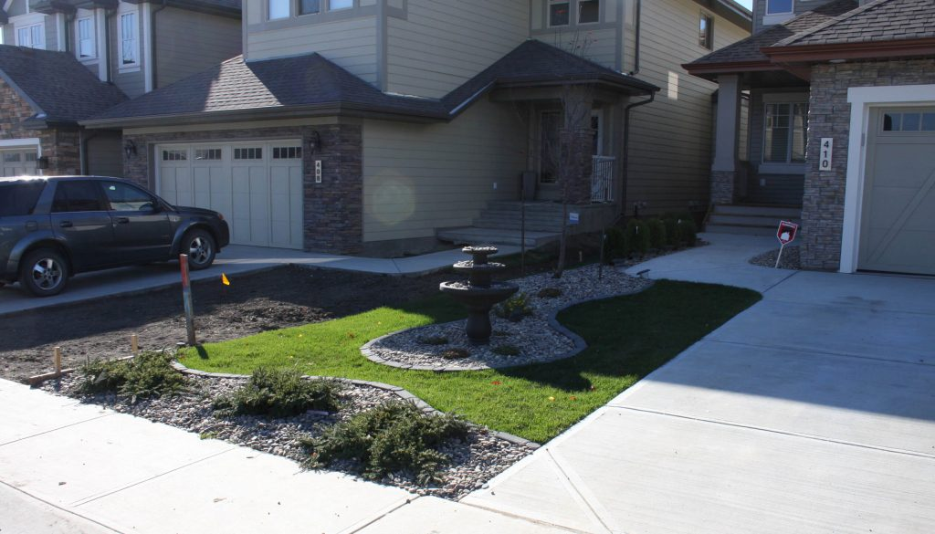 new home landscaping edmonton