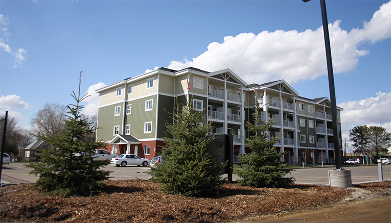 Apartment Complex Landscaping Edmonton